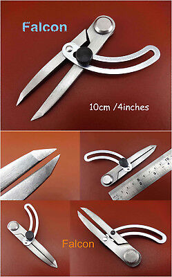 1pc 4 Inch Leathercrafts Adjustable Edge  Creaser Crossed Line Wing Divider Tool