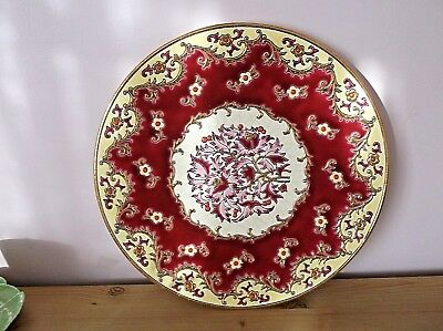 Longwy France Hand Enameled Wall Plate/ Charger MP Chevalier