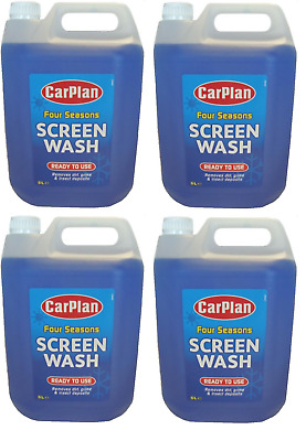 4 x Carplan Ready To Use Screen Wash 5 Litre Windscreen Mixed Screenwash 5l