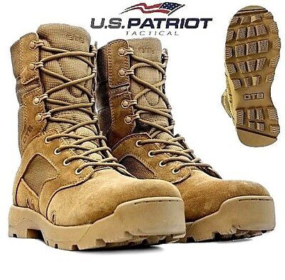 OTB Mens Army Desert Leather Combat Patrol Boots Cadet Military Work Security Sz