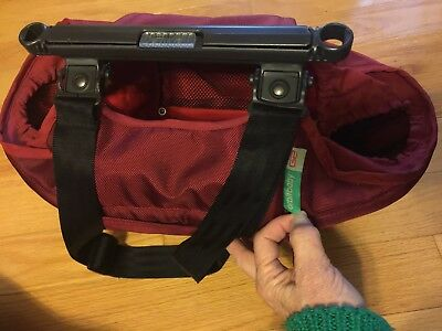 Orbit Baby Stroller Cargo Pod Diaper Bag Red G2 With Strap Free Shipping