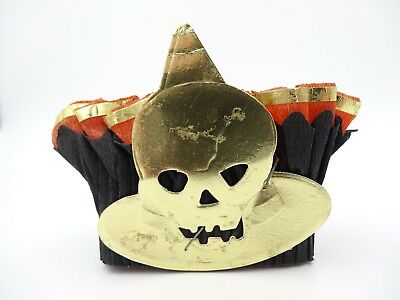 Crepe Paper Halloween Nut Candy Cup Skull Witch Pleated Favor Vintage