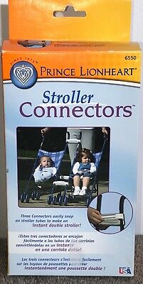 NEW IN BOX Prince Lionheart Stroller Connectors Instant Double Stroller 6550