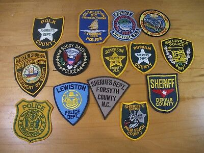 Lot of 14 Collectible Law Enforcement / Police  Patches