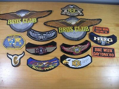 Lot of 13 Collectible Harley Davidson Bikers Patches