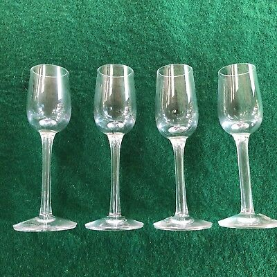 4 Wedgwood Fine Quality Crystal Shot  / Liqueur Long Stemmed Glasses