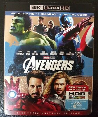 AVENGERS 4K (4K ULTRA HD + BLU RAY + DIGITAL HD) Factory Sealed, MINT CONDITION!