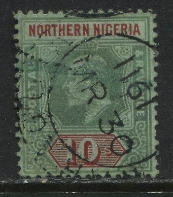 Northern Nigeria KEVII 1910 10/ used