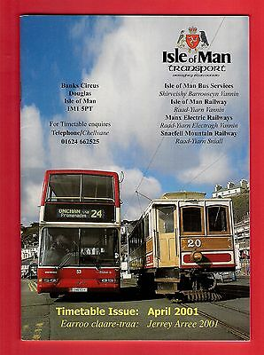 Timetable ~ Isle of Man Transport - Buses: Steam Trains: MER: Snaefell -  2001