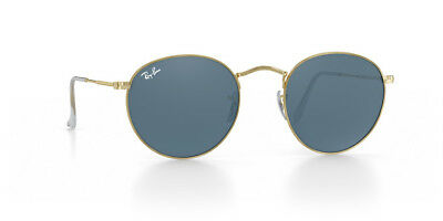 95038be69446e RAY-BAN RB3447 UNISEX Round Metal Polarised 001 3R 47-21 2P Gold ...