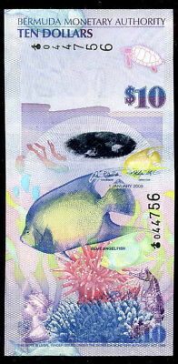 BERMUDA  10 DOLLARS 2009   Prefix Onion  P 59a     Uncirculated
