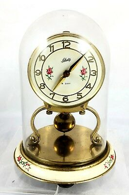 Rare Schatz Pendulum Glass Dome Mantle Clock