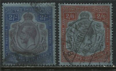 Nyasaland KGV 1921-24 2/ and 2/6d used