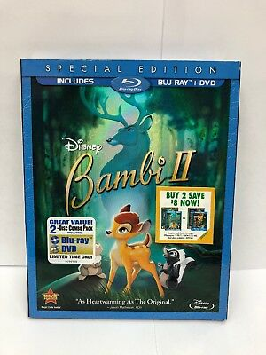 Bambi II (Blu-ray+DVD, 2011 2-Disc Set Special Edition) w/ Slipcover New Sealed