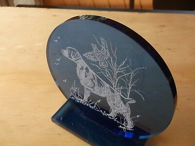 Brittany -Beautifully hand engraved Glass Sculpture   by Ingrid Jonsson