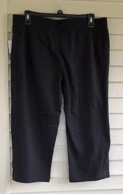 f4440c191528c NWT Womens Black Capri Pants Size Medium Exercise Workout MTA Sport Casual  New