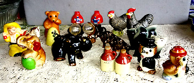 Lot of  Vintage Salt & Pepper Shaker Sets