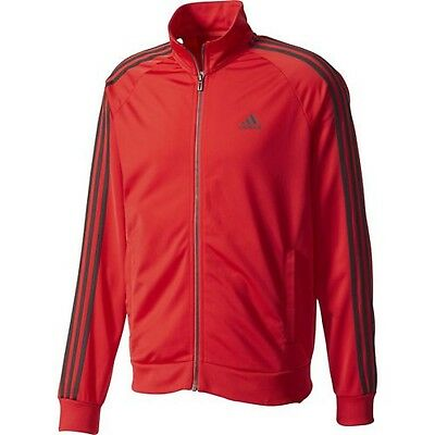 New Adidas Men's Essentials 3 Stripes Tricot Track Jacket~  Large  #cd8768 Red