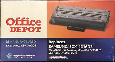 Office Depot replacement for Samsung SCX-4216D3 Black Toner Cartridge New/In-box