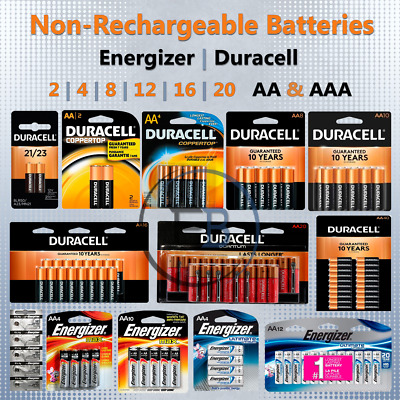 AA/AAA Batteries 2 4 8 12 pack lot Lithium Non-Rechargeable Duracell Energizer