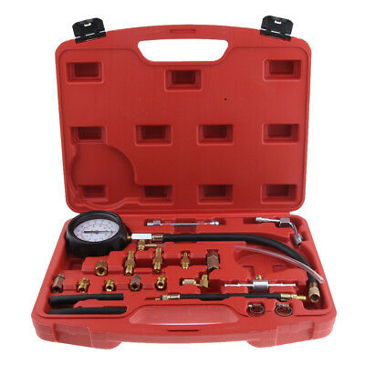 Premium Fuel Injection Pump Pressure Gauge Tester with Fittings Adapters