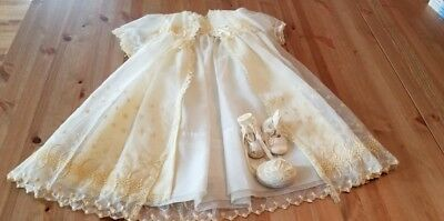 Vintage Christening Gown with Matching Jacket & Accessories
