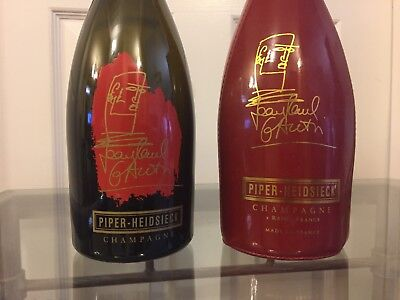 Piper-Heidsieck Jean Paul Gaultier Signed Red Corset And Champagne Bottle