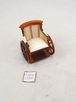 Victorian Wheelchair -  1/12 scale dollhouse wooden miniature P6066