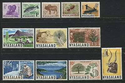 Nyasaland QEII 1964 complete set to £1 mint o.g.