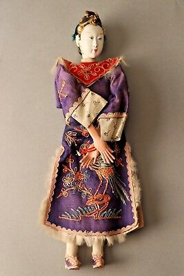 """Antique Chinese Female Opera Doll, 10"""", ca. Late 1800s-1900"""