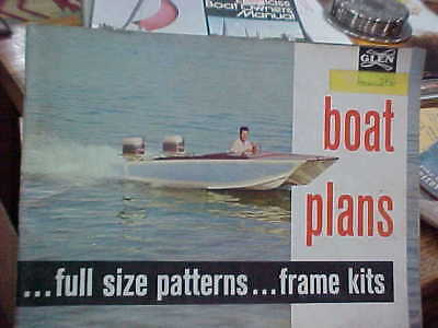 Vintage 1962 Glen L Catalog Boat Plans Full Size Patterns Frame Kits