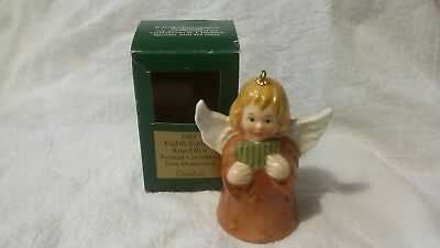 GOEBEL ANNUAL ANGEL ORNAMENT BELL 8TH EDITION 1983 in box Blonde hair Brown gown