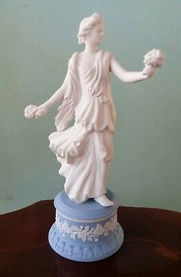 Wedgwood The Dancing Hours Floral Posy Jasper ware Base with Certificate 1997