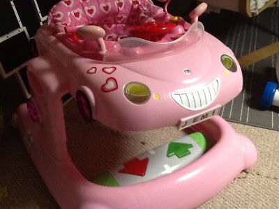 c5035a4bd MOTHERCARE PINK CAR Baby 3 in 1 Walker bouncer - no need for ...