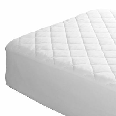 Luxury Quality Polly cotton Plain Dyed Quilted Mattress Protector Fitted Sheet