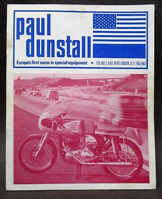early PAUL DUNSTALL racing Motorcycle Equipment Accessory catalog & price list