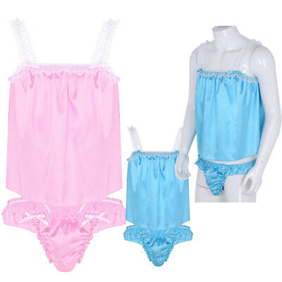 Sexy Men Sissy Lace Thong Underwear Brief Lingerie Tops Nightwear Pouch Panties