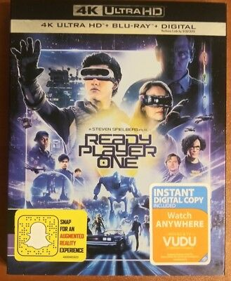 Ready Player One (4K UHD + Blu Ray + Digital) 2018, w/ SLIP COVER **FREE SHIP**