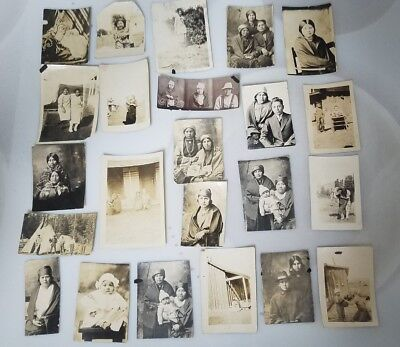 BUY IT NOW!1800's (LOT OF 23) ORIG.NATIVE AMERICAN INDIAN PHOTO/ SNAPSHOTS