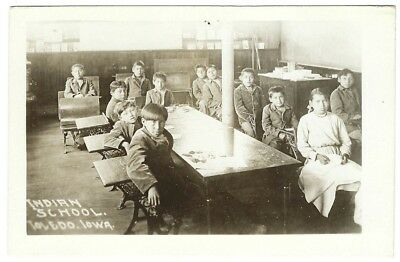 TOLEDO IOWA RPPC c1912 MESKWAKI SCHOOL CHILDREN Mesquakie Sac and Fox