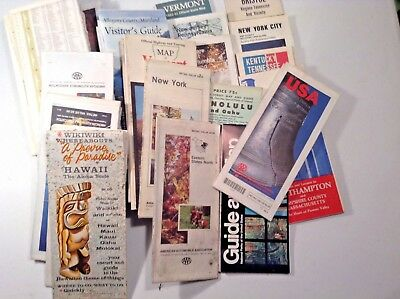 Lof of 30 Vintage Assorted Road Maps-Mostly '60's-'90's-Mostly US