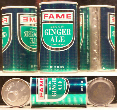 Fame Pale Dry Ginger Ale Soda Pop 12 oz Air Filled Can Dayton 45429 Ohio SC307