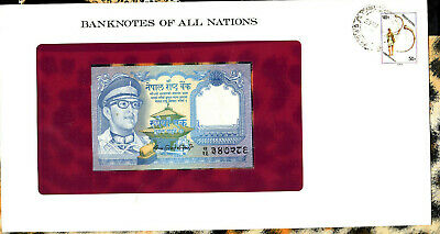 Banknotes of All Nations Nepal 1974 1 Rupee P22b signature 10 UNC *