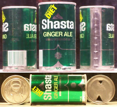 Shasta Diet Ginger Ale Soda Pop 12 Ounce Can Hayword California 94545 SC319