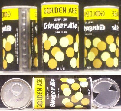 Golden Age Ginger Ale Soda Pop 12 oz Can Akron Ohio 44309 SC338