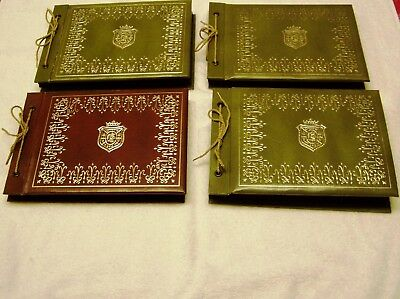 1960's Postcard Albums Lot of 4 Books  200 Postcards from many states
