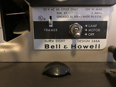 Vintage-  BELL & HOWELL Autoload Super Eight 8 Design 346A Movie Projector