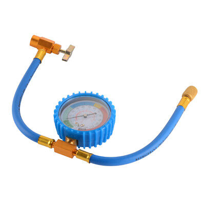 R134A to R12 R22 Refrigerant Charging Hose Pipe w/ Can Tap Pressure Gauge MA1687