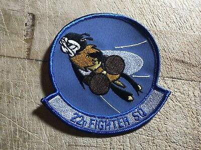 1980s/1990s Desert Storm? US AIR FORCE PATCH-22nd Fighter Squadron-ORIGINAL USAF