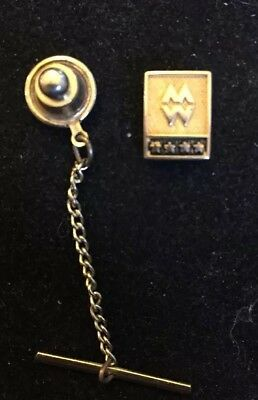 M  W  Company Service Award Gold Filled Pin